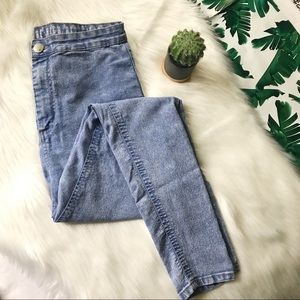 The High Rise Jegging Burnout Fade Skinny Jeans